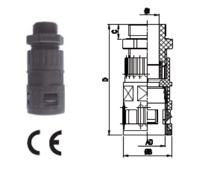 Connector with strain relief