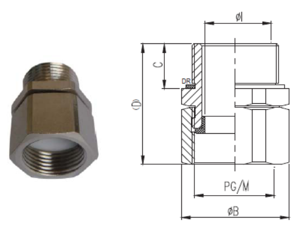 Nickel-plated Brass Spin Coupler