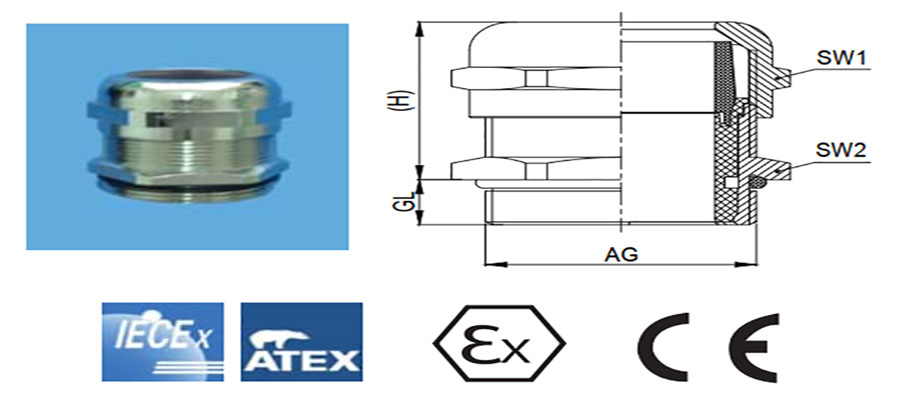 Explosion-proof Metal Cable Gland111